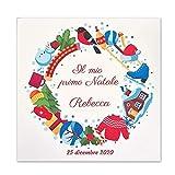Cuadro de nacimiento y Navidad personalizado impreso sobre lienzo tamaño 30 x 40 (Navidad juegos)