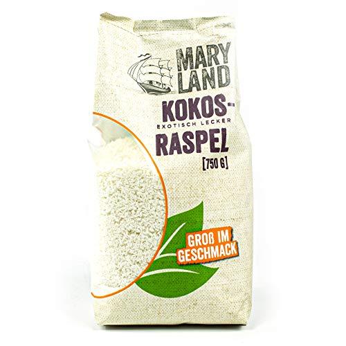 Maryland - Kokosraspeln ungesüßt in Premium Qualität 750 g Packung - Getrocknete Kokosflocken exotisch lecker - Kokos Coconut Flakes ideal für Müsli, Süßspeisen, als Topping oder zum Backen