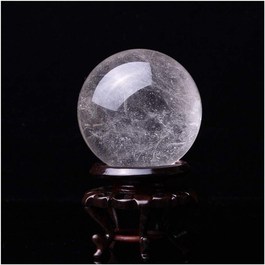 Dimensione : 7cm xiaokeai Sfera di Quarzo Grezza Naturale Ufficio Palla di Vetro Bianco fortunati Sfera di Cristallo Sfera di Feng Shui Ornamenti Regalo Dedizione lucidatura Sfera Cristallo