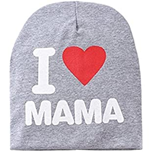 Fashion Baby Child's Knitted Cotton Warm Winter Lycra Hat Clothing Accessories (Grey) 21x20cm Grey:Whiteox