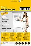 Bi-Office Bloc de papel para Pizarra Rotafolios, Euro, con perforación, 70 g/m², Blanco,...