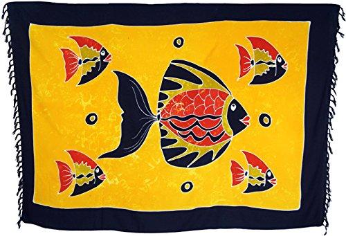 Guru-Shop, Bali Sarong, do powieszenia na ścianie, spódnica owijana, sukienka Sarong, ręcznik plażowy, wzór 3, syntetyczny, rozmiar: jeden rozmiar, 160 x 100 cm, Sarongi i ręczniki plażowe