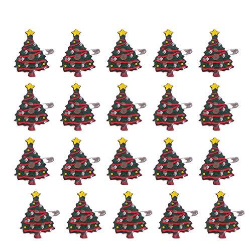 Amosfun 25 stücke led leuchten weihnachtsbäume broschen emaille pins Abzeichen Weihnachtsfeier bevorzugt schmuck Geschenke für Kinder Erwachsene