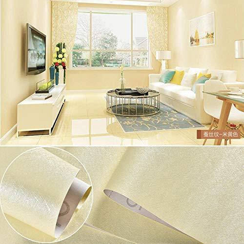 Dekorative selbstklebende Tapete,Reine Farbe wasserdichte PVC-Tapete-Creme farben_60 cm * 5 m