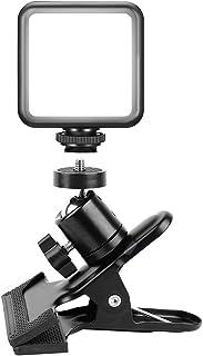 LED 撮影用ライト 2000mAh USB充電 照明 撮影 クリップ雲台付 360度回転 ビデオライト VL49 5500K 調光 カメラ照明 シューマウント付 iPhone DJI OSMO Mobile 3 Action Gopro 9 ...