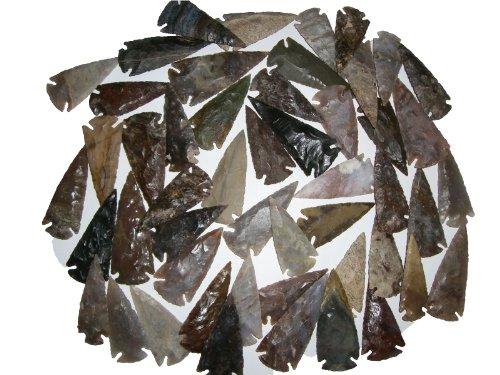 50 Pfeilspitzen 6 bis 8,5cm Steinzeit Nachbau