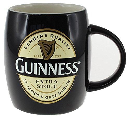 Keramik Guinness Schaftbecher mit Extra Stout Label, Farbe: schwarz