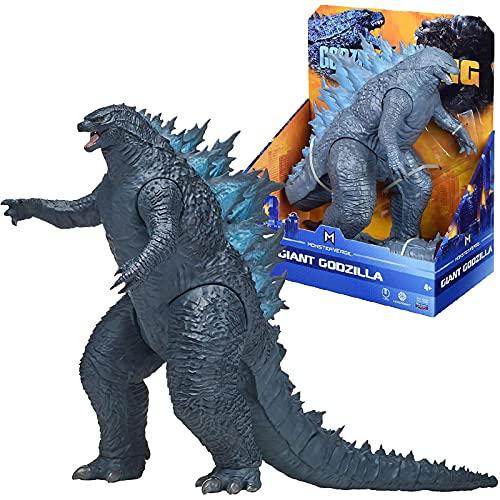 QWEU Giant Godzilla Vs Kong King of The Monster Verse SHF Action Figure 28Cm, PVC Light Sound Modello Anime Raccogliere Giocattoli Bambola Bambini