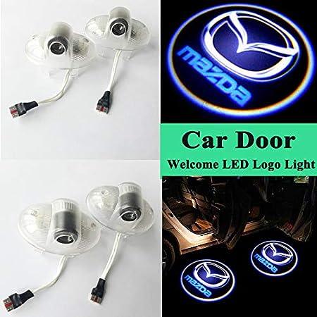 YANTAIAN 2 PCS DC12V 2W Car Door Logo Light Brand Shadow Lights Courtesy Lamp for Mazda 8 2011-2015