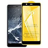 HUANGPUJIAN Coques de téléphone 9D Full Screen Film en verre trempé pour Nokia 5.1