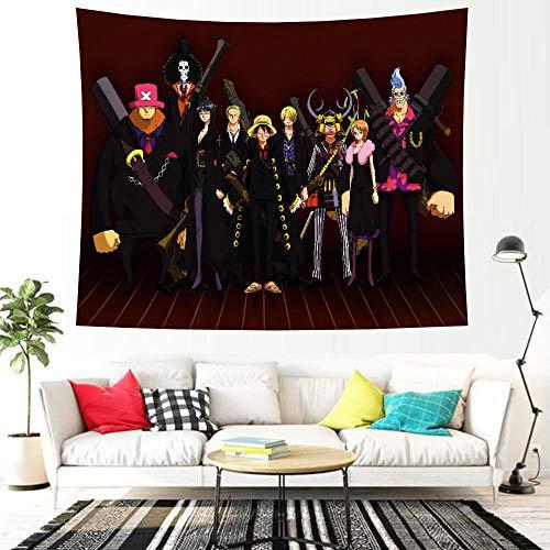 LSSWY Tapices,Anime One Piece Series HD 3D Juegos Arte Cortinas Dormitorio Sábanas Tapetes De Yoga Habitación Infantil Decoración del Hogar Size D