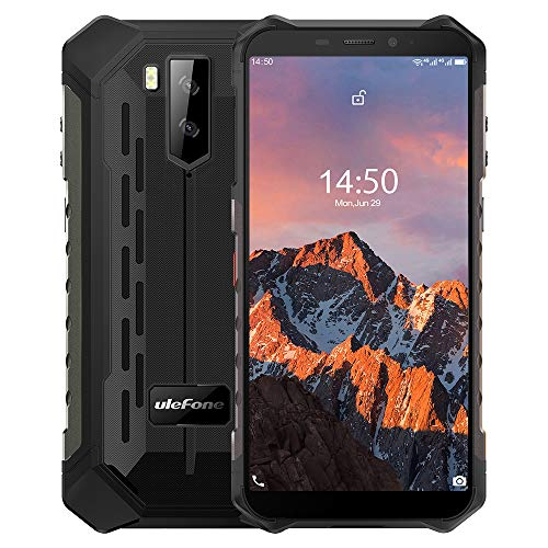"Ulefone Armor X5 Pro【4GB RAM 64GB ROM】, Android 10 4G Móvil Antigolpes, MTK6762 Octa-Core, 5.5 ""IP68 Impermeable Moviles Todoterreno, Dual SIM, 5000mAh Batería, Desbloqueo Facial NFC GPS Rojo"