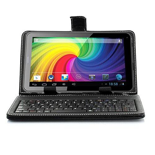"""inDigi Universal 7.0"""" USB PU Leather Case Stand with Full Keyboard for Android Tablet PC Phablet Smartphone"""