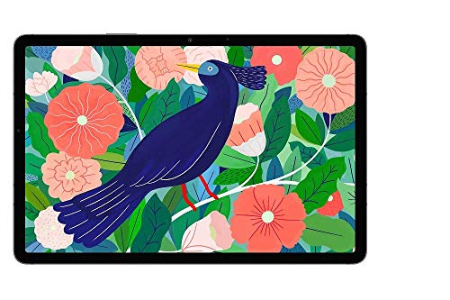 Samsung Galaxy Tab S7, Android Tablet mit Stift, 4G, WiFi, 3 Kameras, großer 8.000 mAh Akku, 11,0 Zoll LTPS Display, 128 GB/6 GB RAM, Tablet in schwarz