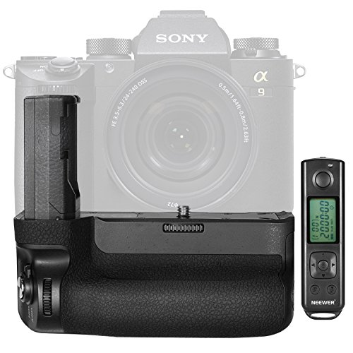 Neewer NW-A9 Vertikaler Batteriegriff Ersatz für VGC3EM mit 2,4 GHz Fernbedienung bis zu 100 Meter für Sony A9 A7RIII Kamera (Batterie Nicht im Lieferumfang enthalten)