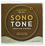 SonoTone Vintage, 09-42, Extra-Light, Electric Guitar Strings, Pure Nickel Wrap, Hand-Wound, Hex...