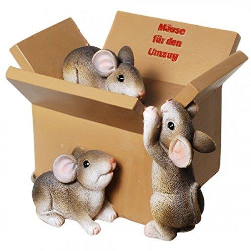 Kremers Schatzkiste Spardose Mäuse für den Umzug Sparschwein Sparbüchse