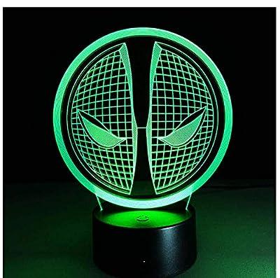Iluminación 3D Especial - Esta lámpara óptica Illusion 3D es en realidad una lámpara que utiliza solamente un pedazo fino de 4m m de acrílico diseñado wireframe, y hace que este efecto 3D se ilumine, no los objetos 3D. Cable USB de 1.5 Metros - Segur...