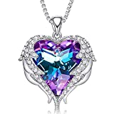 CDE Necklaces for Women Embellished with Austrian Crystals Pendant Necklace Heart Of Ocean Christmas Gift for Women Mom