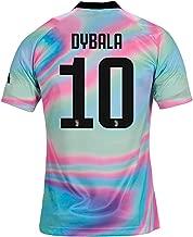 HuFedfg Juventus 2018/2019 Season #10 Dybala Mens Commemorative Limited Edition Soccer Jersey Multicoloured