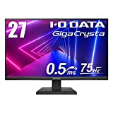 I-O DATA ゲーミングモニター 27インチ(75Hz) GigaCrysta PS4 FPS向き 0.5ms(GTG) TN HDMI×2 DP EX-LDGC271TB
