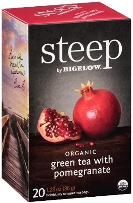 Steep Bigelow Organic Green Tea With Pomegranate 20 Bags