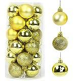QYY Bolas de Navidad 4 cm Bolas de árbol de Navidad Adorno de Pared Colgante de Pared Adornos Decoraciones Árbol Bolas Decorativas Boda de Fiesta Suministro Hogar Decoraciones para Festivales