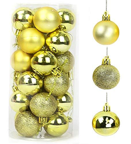 QYY Palline di Natale 4CM Plastica Palle e Palline per L'Albero Impostare Ornamento Dell'Albero,Decorazione Natale per Albero Natale Addobbi per Matrimonio
