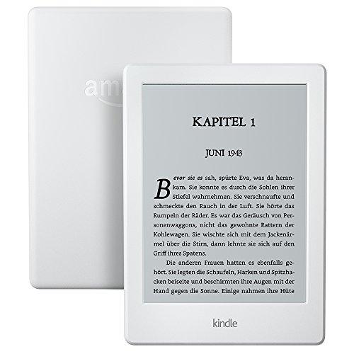 Kindle, 15,2cm (6Zoll) großes Display (ohne integriertes Licht), WLAN (Weiß) – mit Spezialangeboten (Vorgängermodell – 8.Generation)