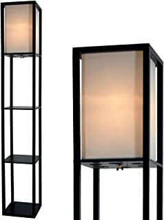 Floor Lamp with Shelves by Light Accents - Shelf Floor Lamp - 3 Shelf Lamp Standing Floor Lamp with Shelves 63