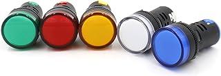 Baomain AD16-22D/S31 12 V 20mA Energy Saving LED Indicator Light Green Yellow Red Blue White 5 Pcs