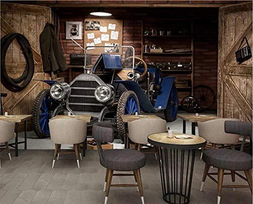 Wxlsl 3D Tapete Benutzerdefinierte Fototapete Oldtimer Restaurant Café 3D Wandbilder Tapete Für Wände 3 D Wohnzimmer Malerei-200cmx140cm