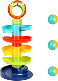 TOYANDONA Ball Drop Toys Spinning Swirl Ball Ramp Tower Fine Motor Skills Toy Christmas Birthday Gifts for Toddlers Boys a...