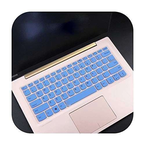 Keyboard Cover for Lenovo Yoga S940 14Iwl S940-14Iwl 14 Inches C340 C340-14Iwl 14 Inches / C340-15Iwl 15 15.6 Inches Blue