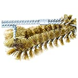 Backyard Dudes BBQ Grill Cleaning Brass Brush 15' -Made in USA -Heavy Duty Real Brass Extra Wide Two Levels of bristles are Soft Safe for Porcelain Enamel grates (15 Inches)