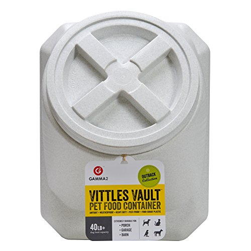 Gamma2 Vittles Vault Outback Stackable 40 lb Airtight Pet Food Storage Container