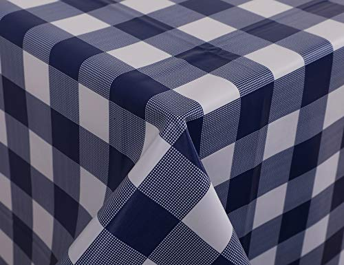VINYLLA - Mantel de PVC, fácil de Limpiar, diseño de Cuadros, 140 x 140 cm