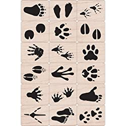 hero arts ink and stamp set animal prints