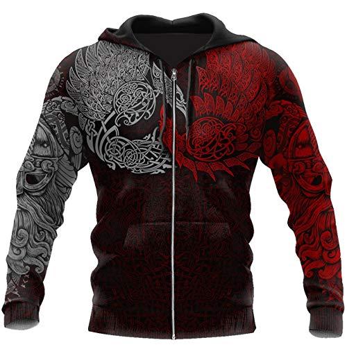 hqlcx men sweatshirt viking ravens