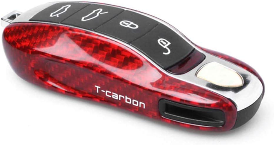 GZYF Genuine 1PC free shipping Carbon Fiber Remote Key Cover Porsche Case Red Fits