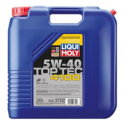 LIQUI MOLY 3702 Motoröl 5W-40 TOPTEC 4100, 20 L