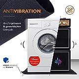 Zuschneidbare Antivibrationsmatte für Waschmaschinen, Trockner u.v.m. | Größe 60cmx60cmx6mm | Auch als Antirutschmatte, Waschmaschinenunterlage & Schalldämmung geeignet | MADE IN GERMANY - 2