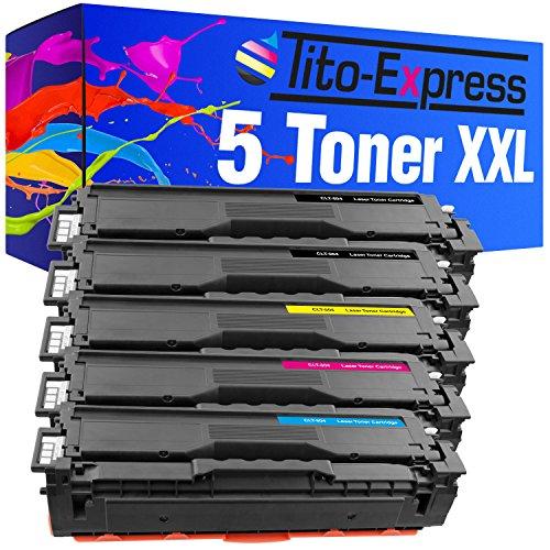 Tito-Express PlatinumSerie 5 Toner XXL kompatibel mit Samsung CLT-504S Xpress C1860FW C1810W CLX-4195N CLX-4195FW C1810W CLP-415N CLP-415NW | Black je 2.500 Seiten