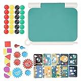 Zeichenblock Tragbare LCD-Tafel Schreibbrett Spielzeug LCD-Display Kinder Kinder Tafel Tragbare Doodle-Pad zum Zeichnen Malspielzeug(Grün)