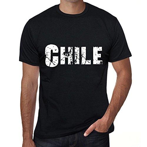 One in the City Chile Hombre Camiseta Negro Regalo De Cumpleaños 00550