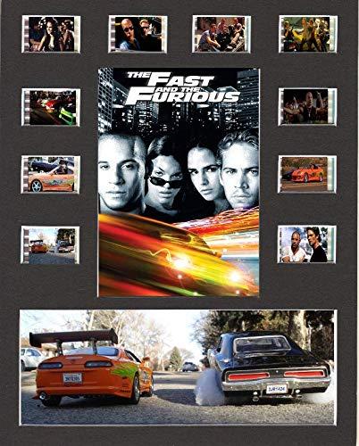 Fast und Furious Film Cell Style Display 10x 8montiert 10Zellen, Gerahmt 2, 25 x 20 cm