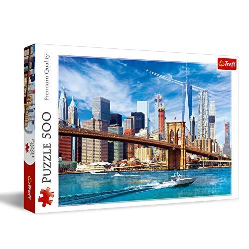 Trefl TR37331 Ansicht von New York 500 Teile, Premium Quality, für Erwachsene und Kinder ab 10 Jahren Puzzle, Farbig