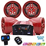 12V Motorcycle Waterproof FM USB 4 Channel 3 Inch UTV ATV Bluetooth Amplifier Sound System Audio Stereo Hand-Free Speakers Audio