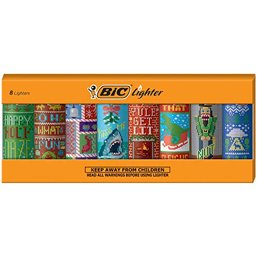 BIC Special Edition Holiday Series Lighters, Set of 8 Lighters