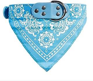 Puppy Neckerchief, Washable Triangle Adjustable Pet Dog Cat Neck Bandana Collar Scarf light blue